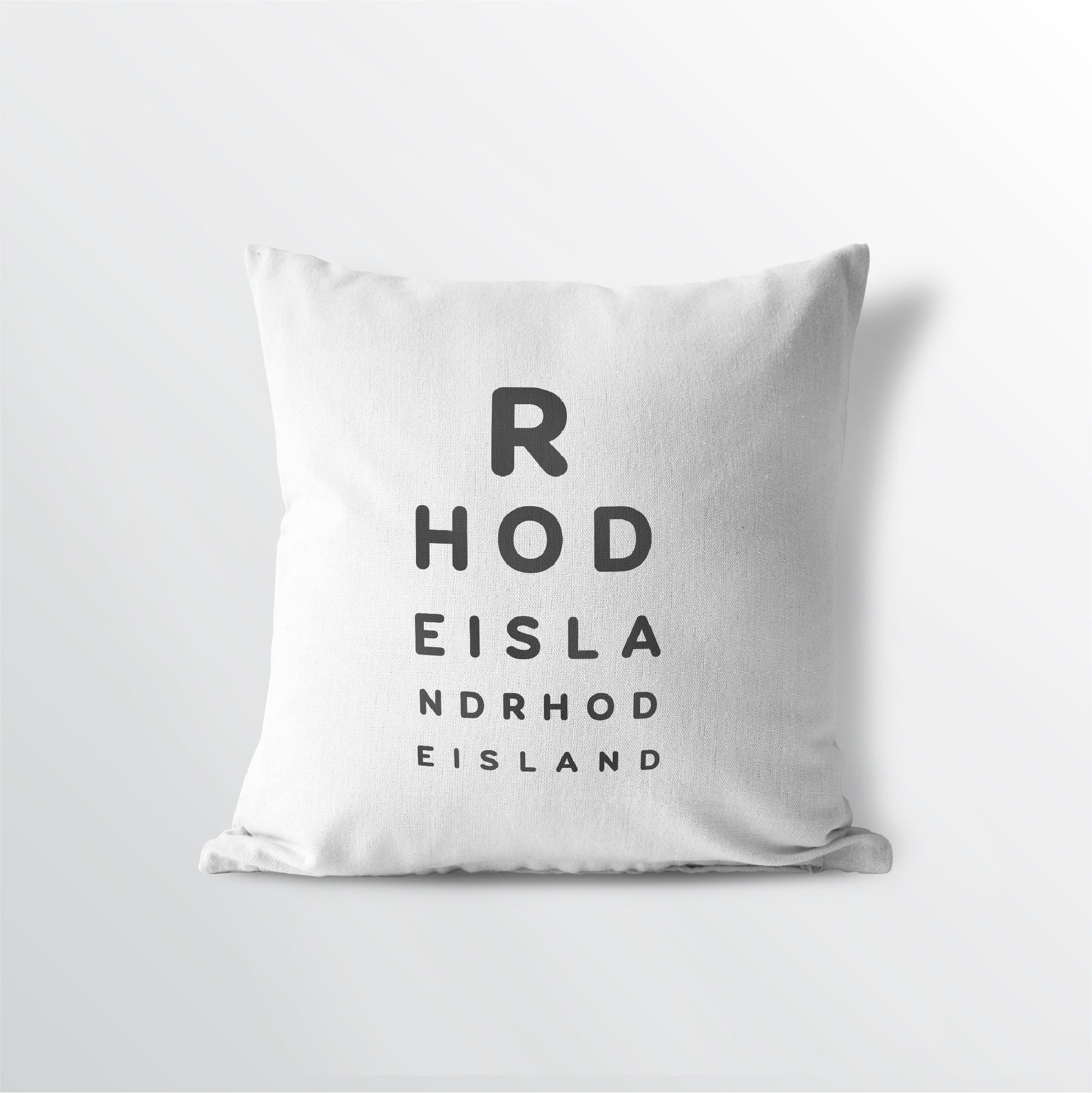 "Rhode Island ""Eye Exam"" Throw Pillow"