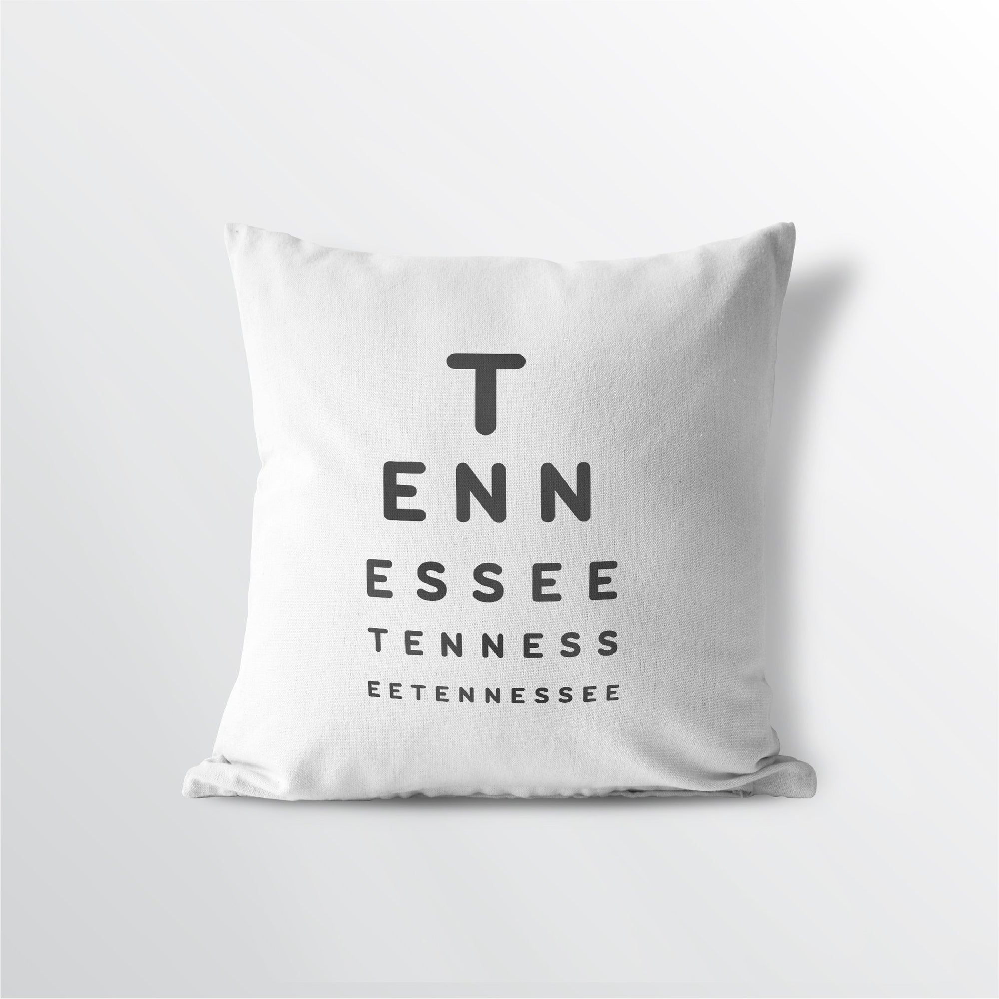 Tennessee State Eye Exam Style Throw Pillow Represent Your State Pride With Free Shipping Point Two Design