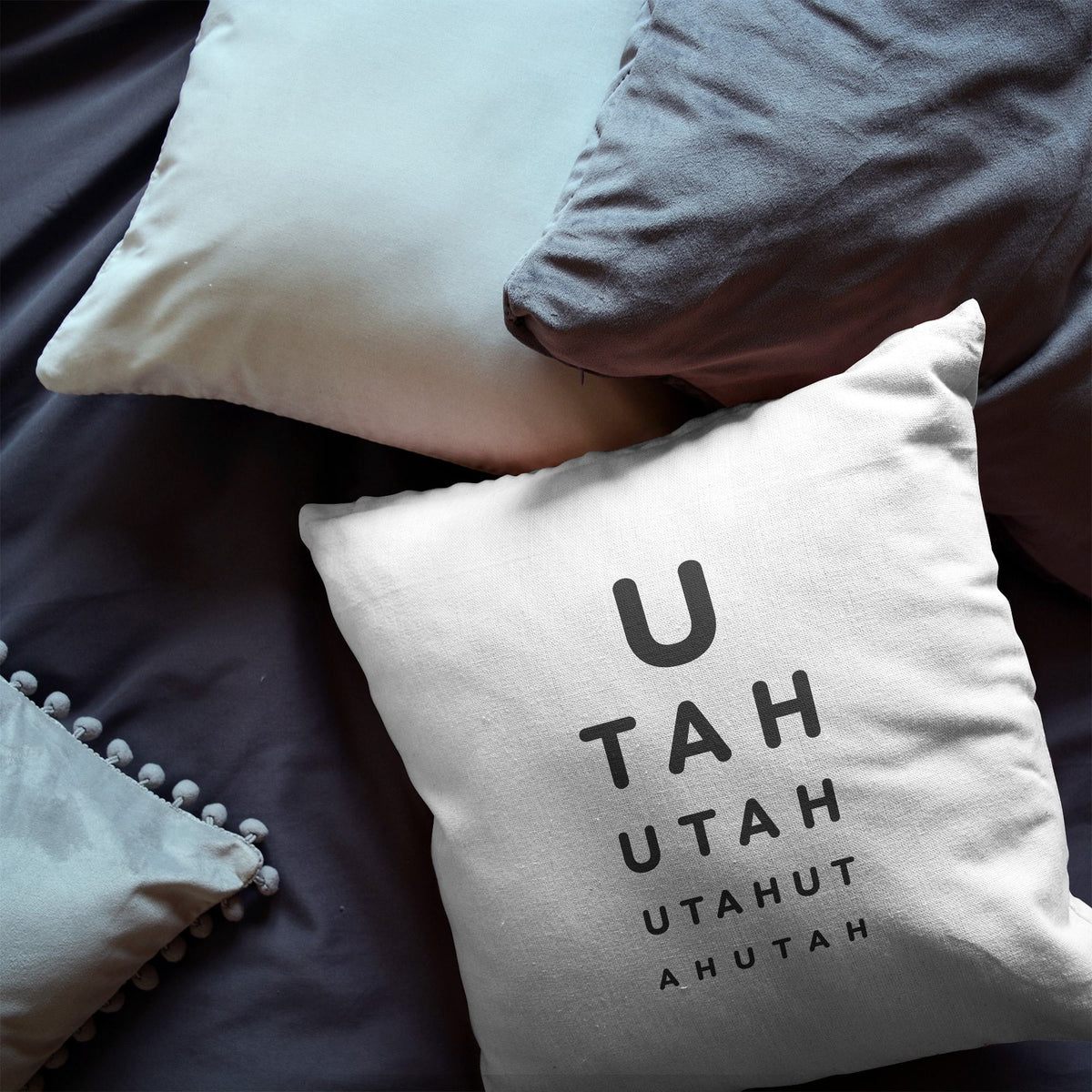 "Utah ""Eye Exam"" Throw Pillow"