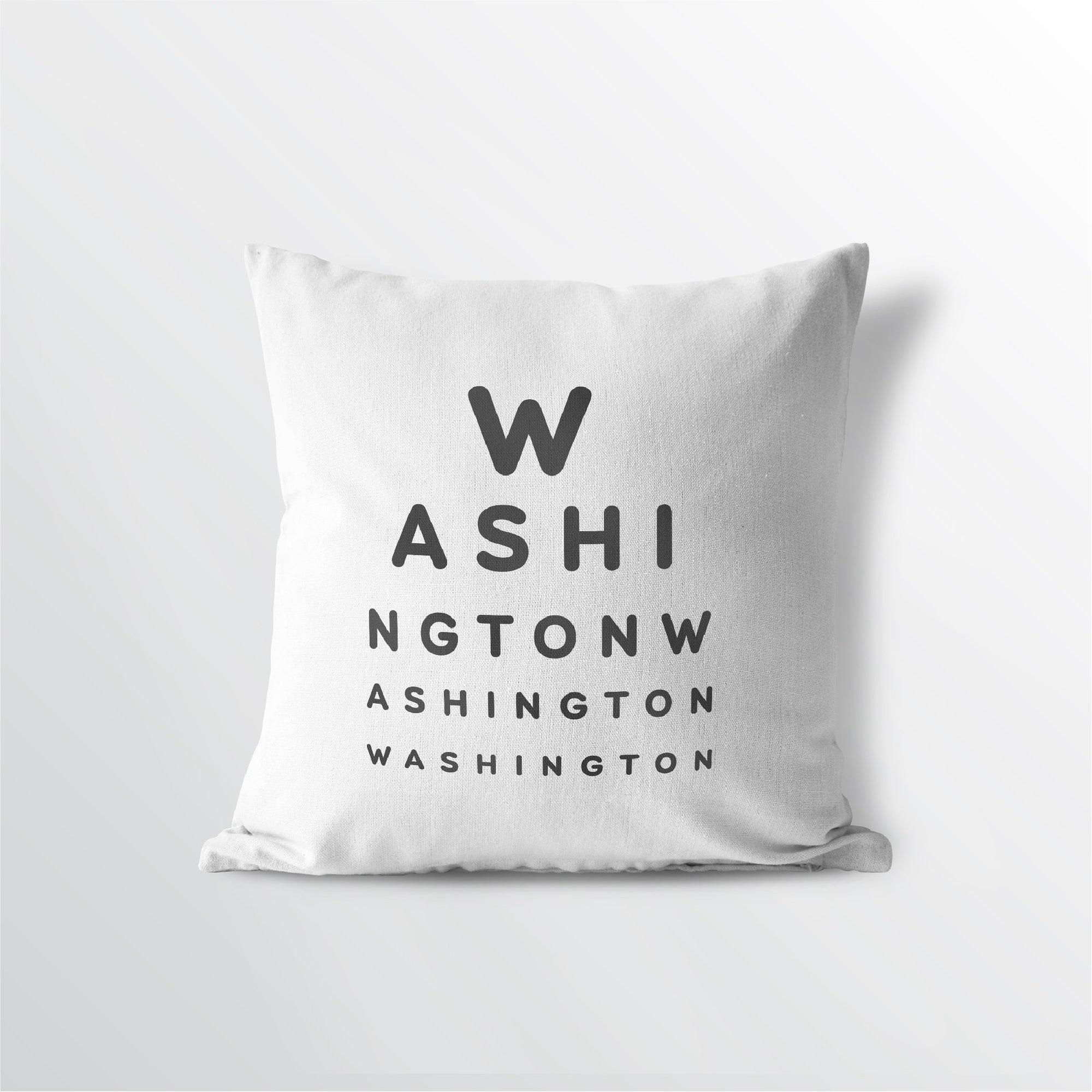 "Washington ""Eye Exam"" Throw Pillow"