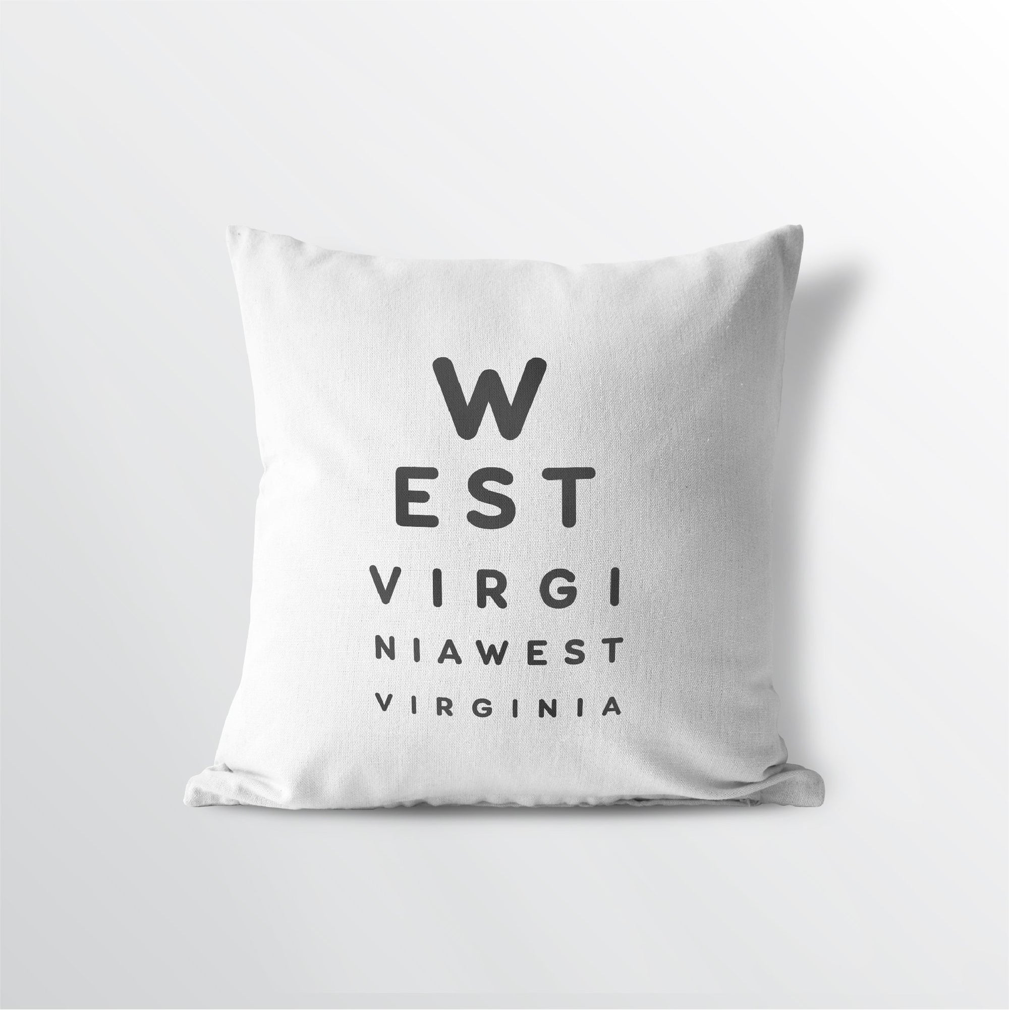 "West Virginia ""Eye Exam"" Throw Pillow"