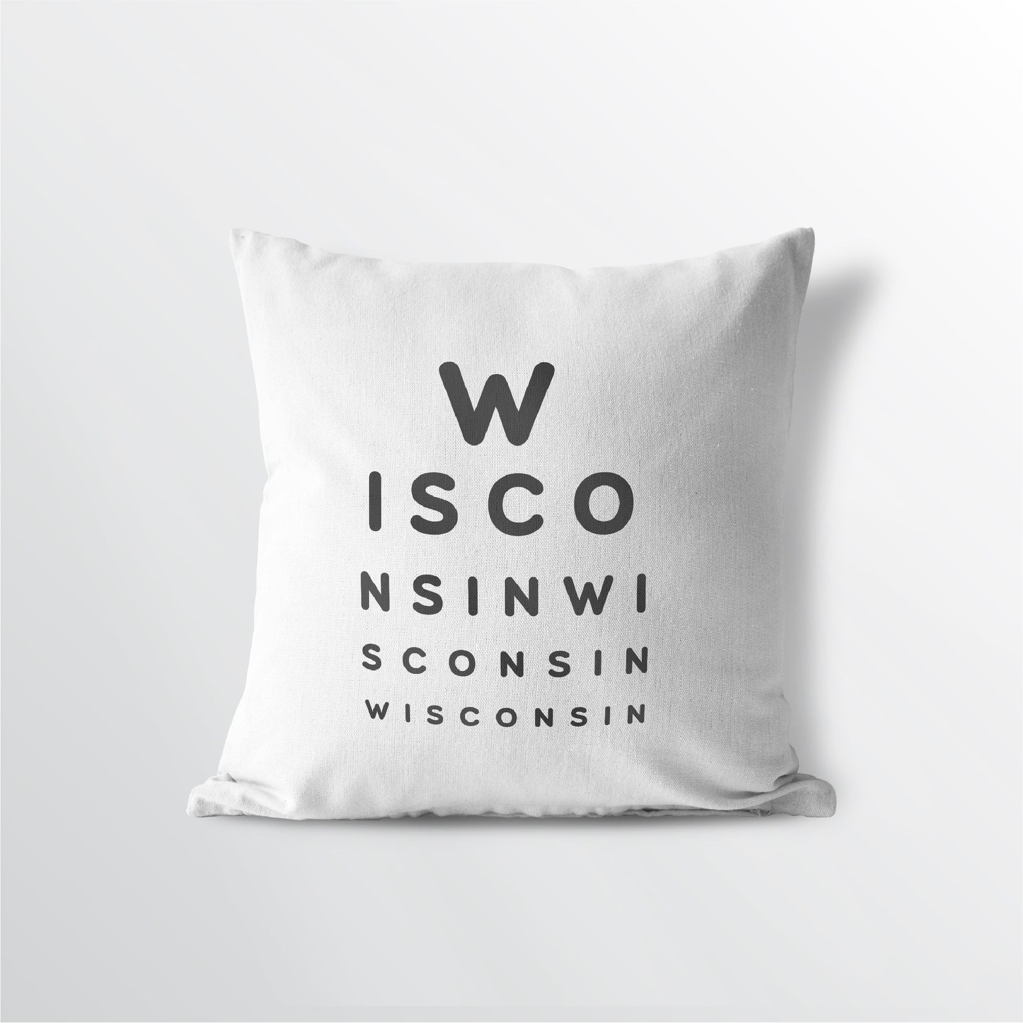 "Wisconsin ""Eye Exam"" Throw Pillow"