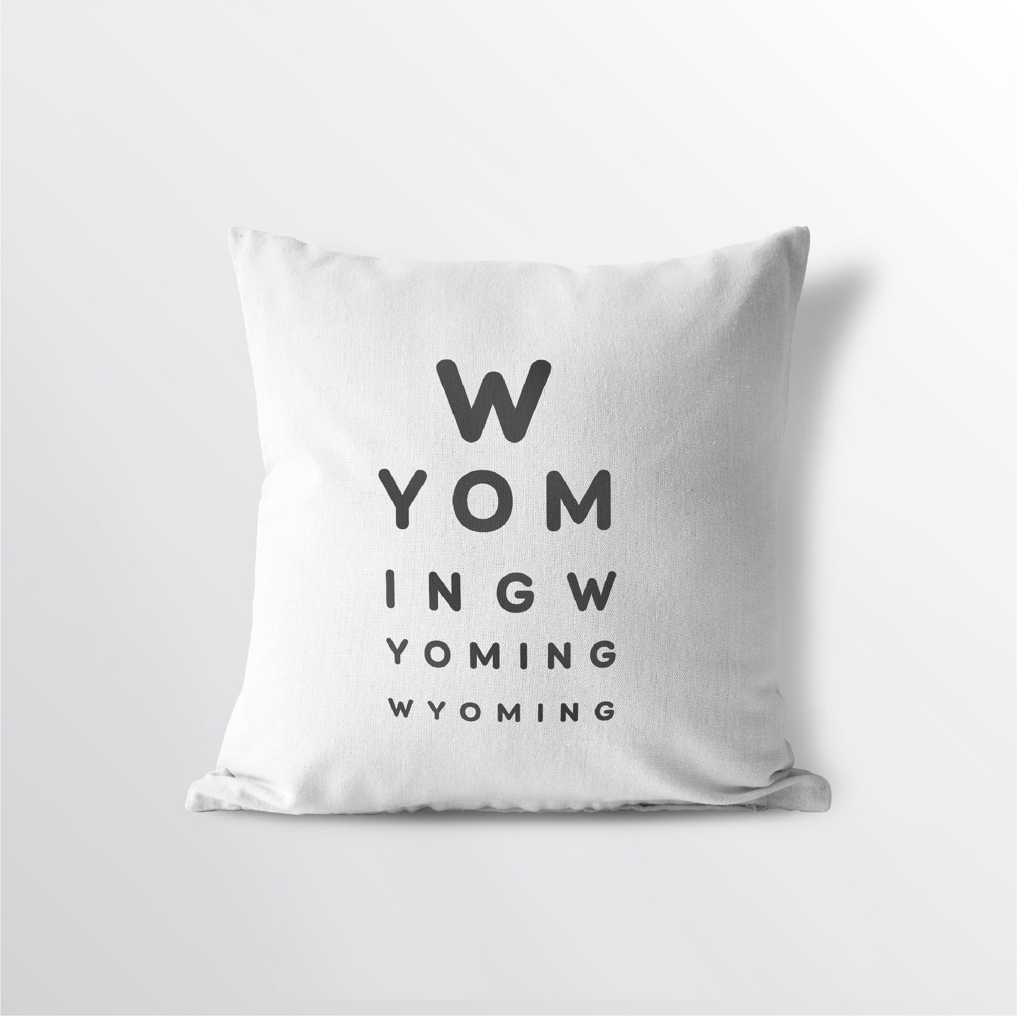 "Wyoming ""Eye Exam"" Throw Pillow"