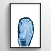 Geode Art Print - Tall blue - Point Two Design