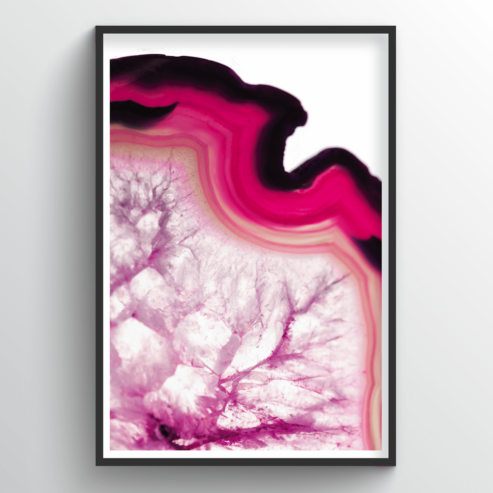 Geode Art Print - Pink - Point Two Design