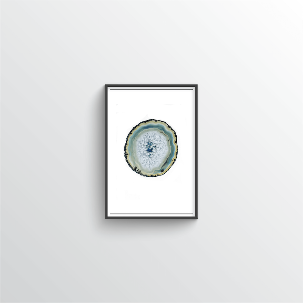 Geode Art Print - Green - Point Two Design