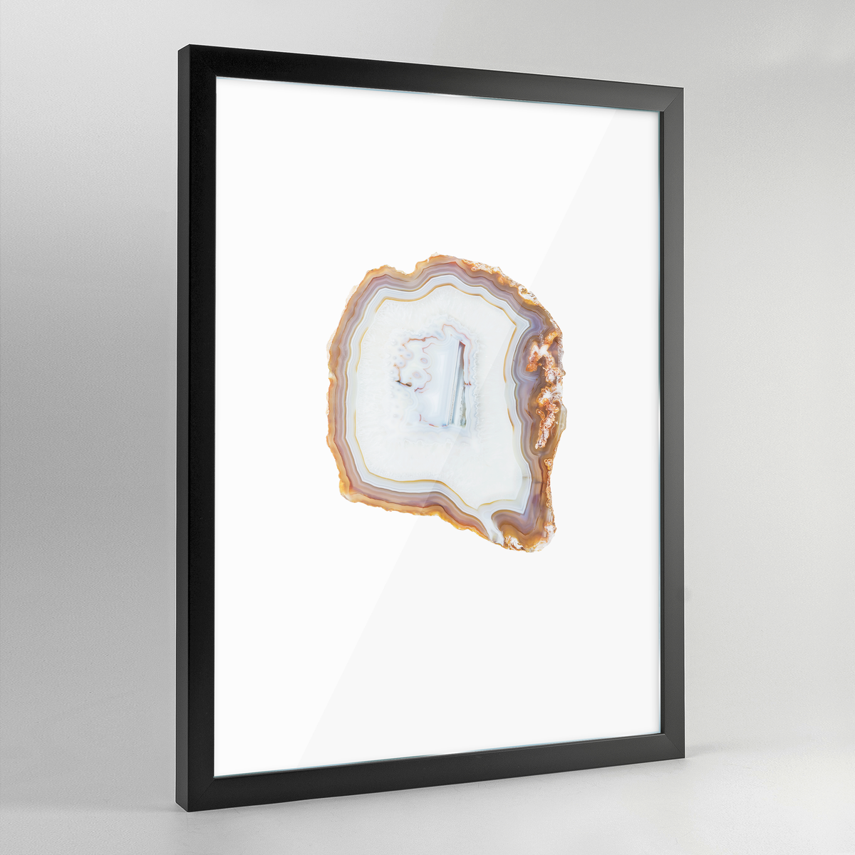 Geode Art Print - White - Point Two Design