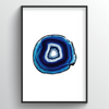 Geode Art Print - Blue - Point Two Design