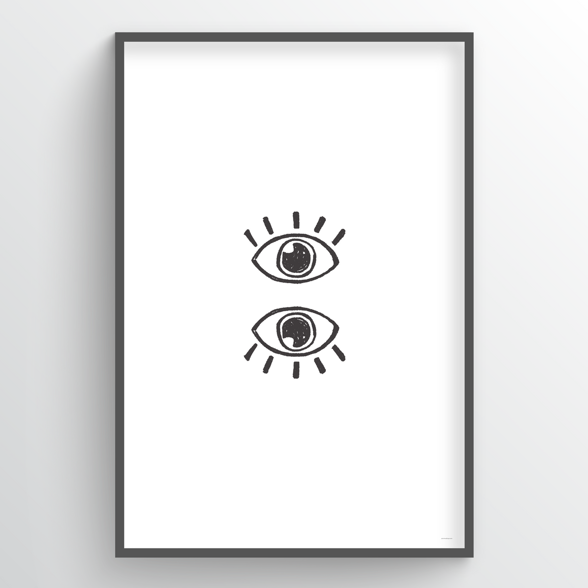 Point Two Design Group modern art prints: Eyes Art Print