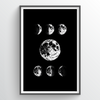 Point Two Design Group: Moon Phases Art Print