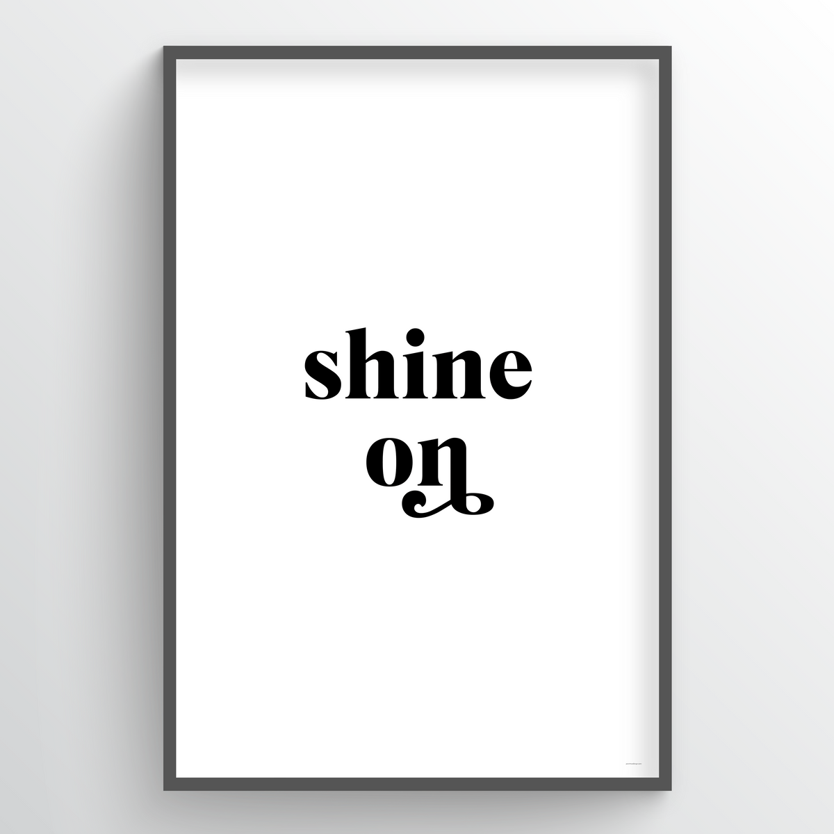 Point Two Design Group modern art prints: Shine On Art Print