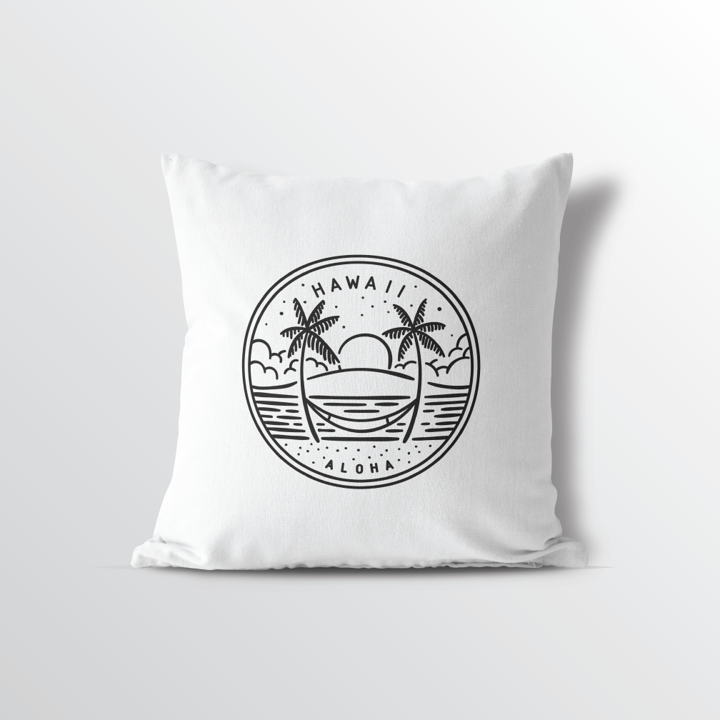 Hawaii State Crest Throw Pillow
