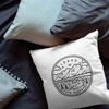 Idaho State Crest Throw Pillow