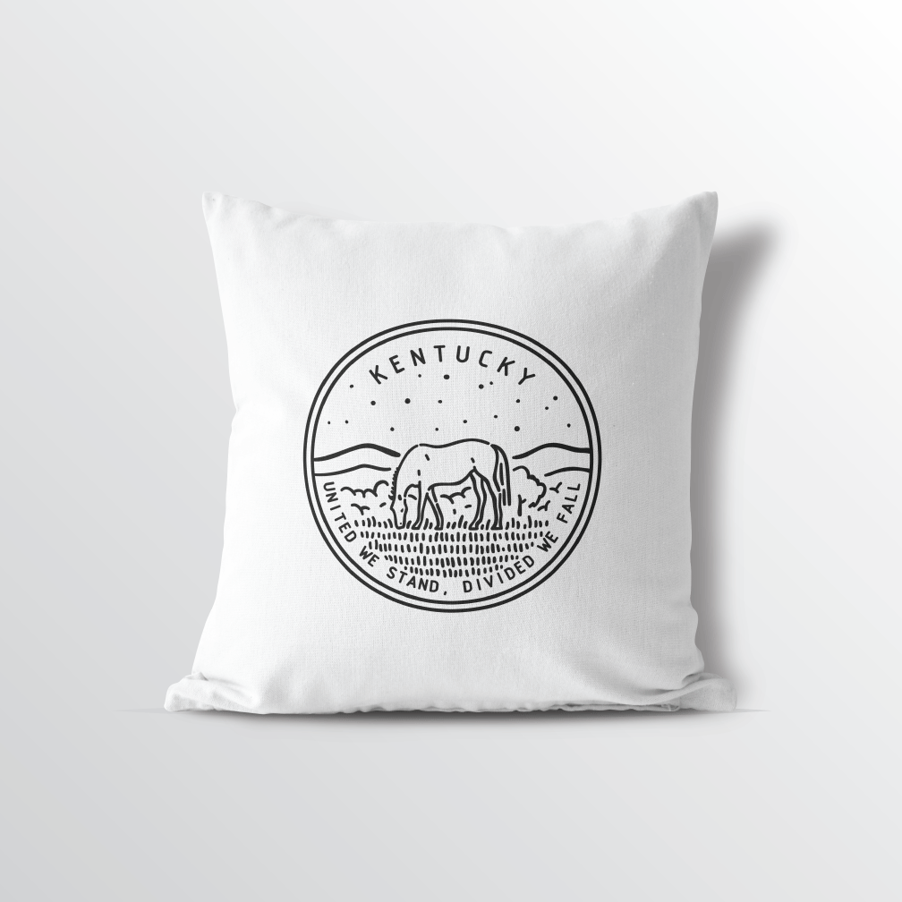 Kentucky State Crest Throw Pillow
