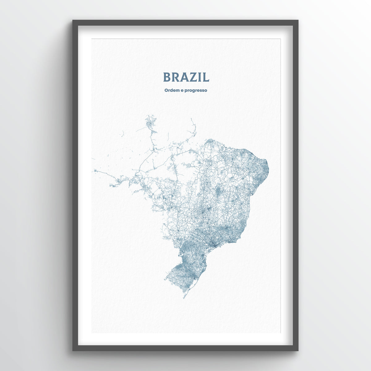 Brazil - All Roads Art Print - Point Two Design