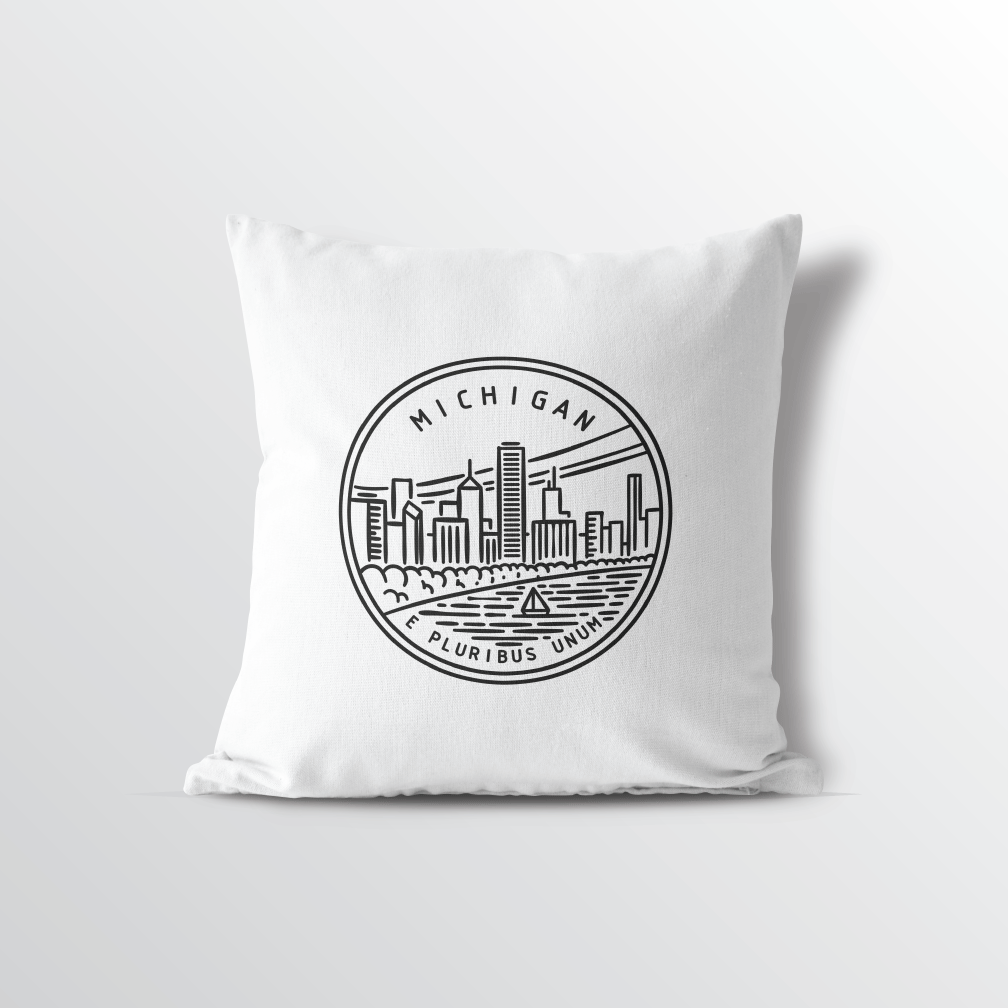 Michigan State Crest Throw Pillow