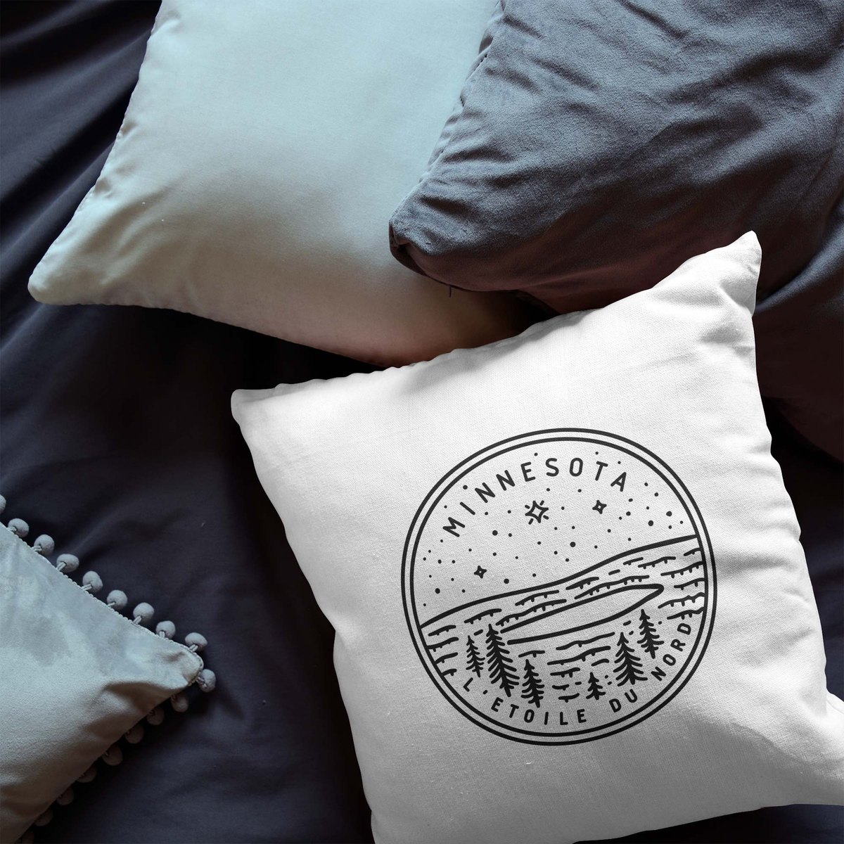 Minnesota State Crest Throw Pillow