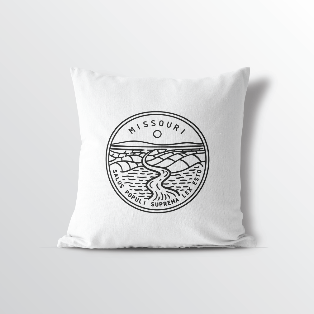Missouri State Crest Throw Pillow
