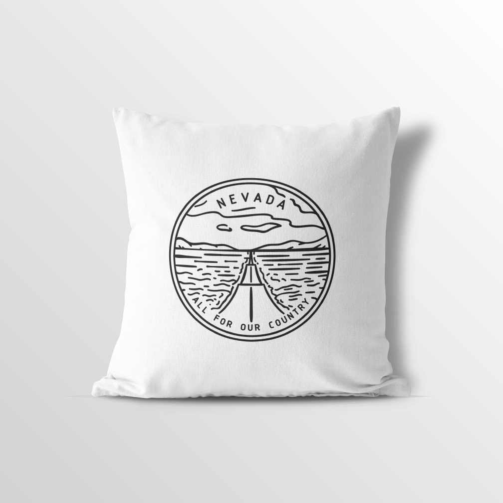 Nevada State Crest Throw Pillow