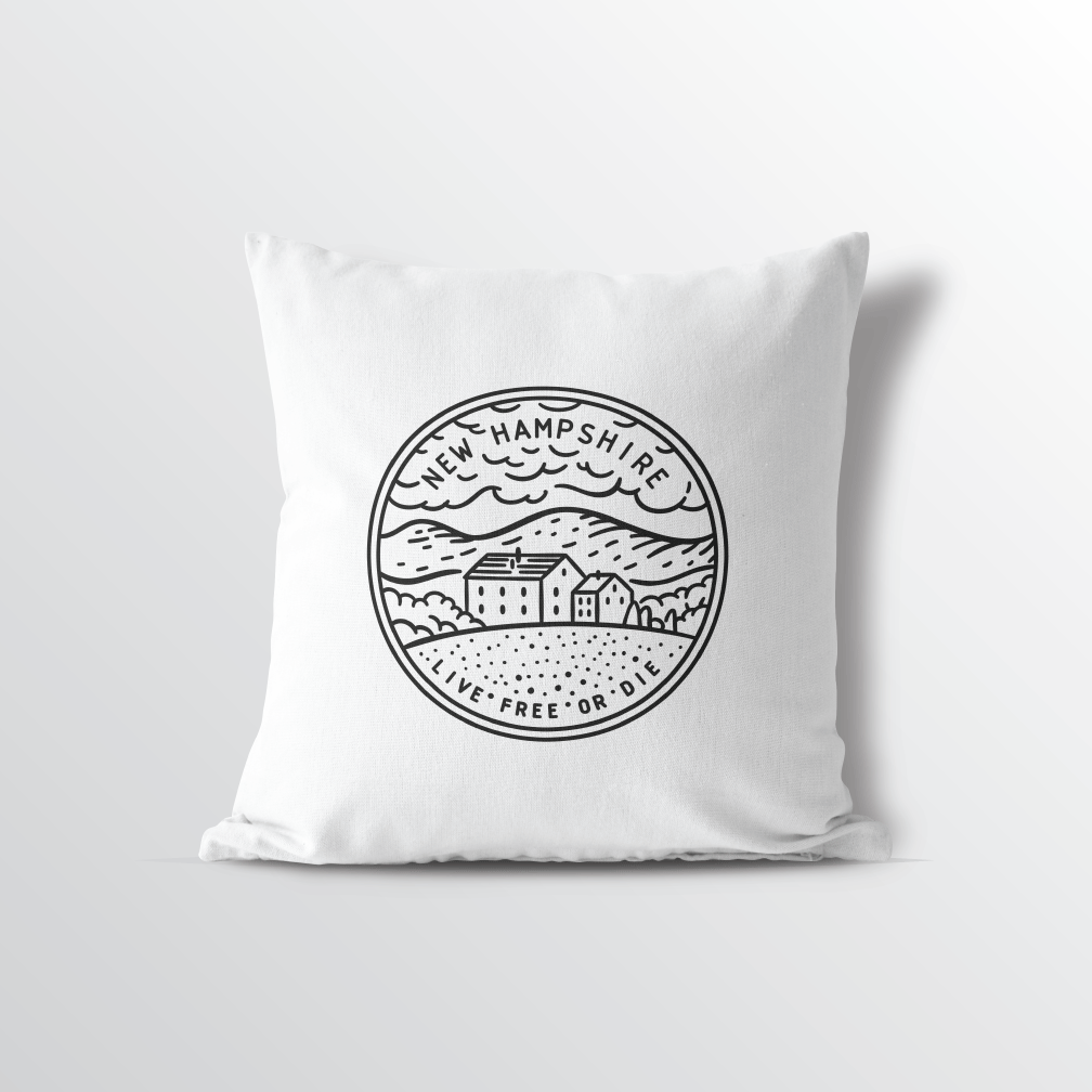 New Hampshire State Throw Pillow