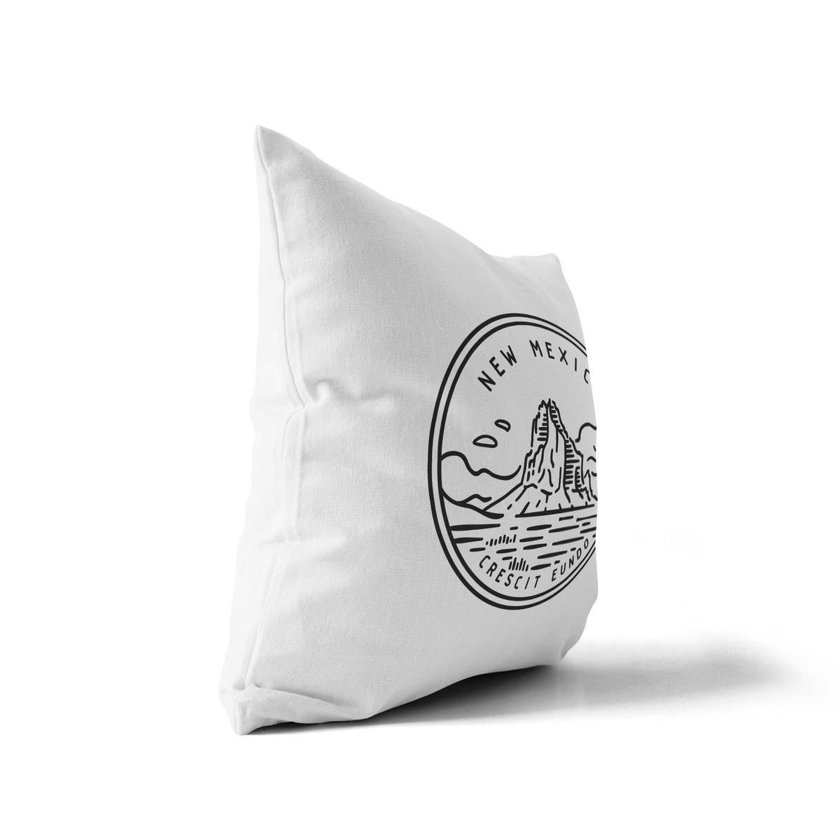 New Mexico State Crest Throw Pillow