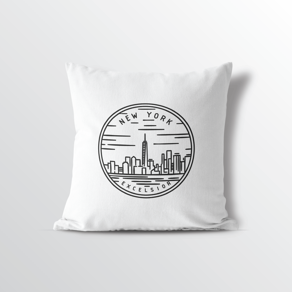 New York State Crest Throw Pillow