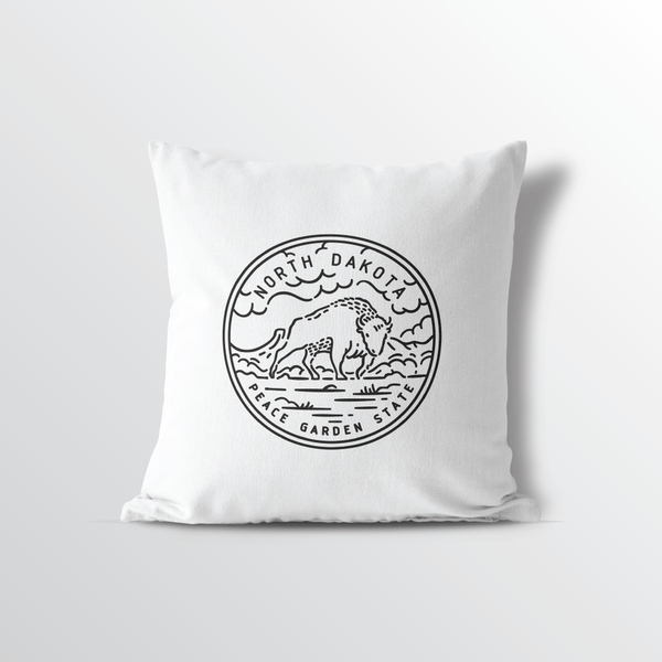 North Dakota State Crest Throw Pillow