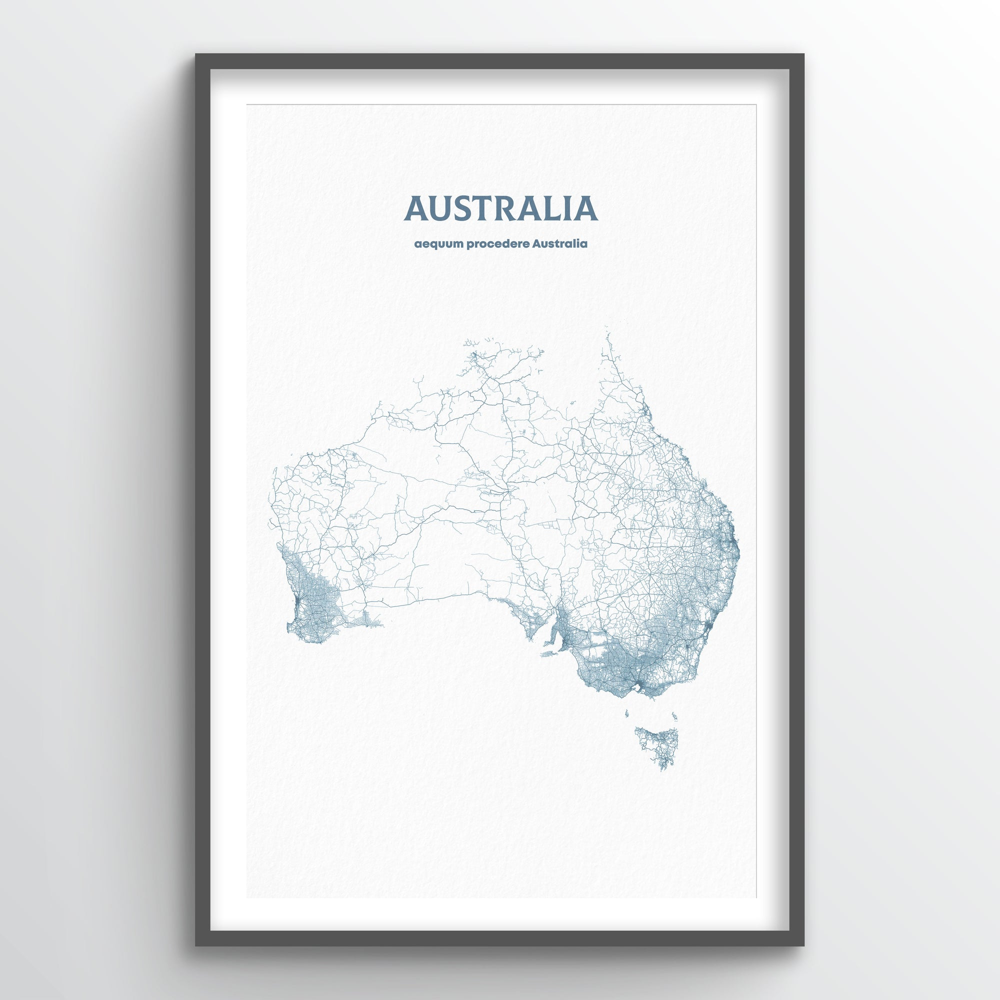 Australia - All Roads Art Print - Point Two Design