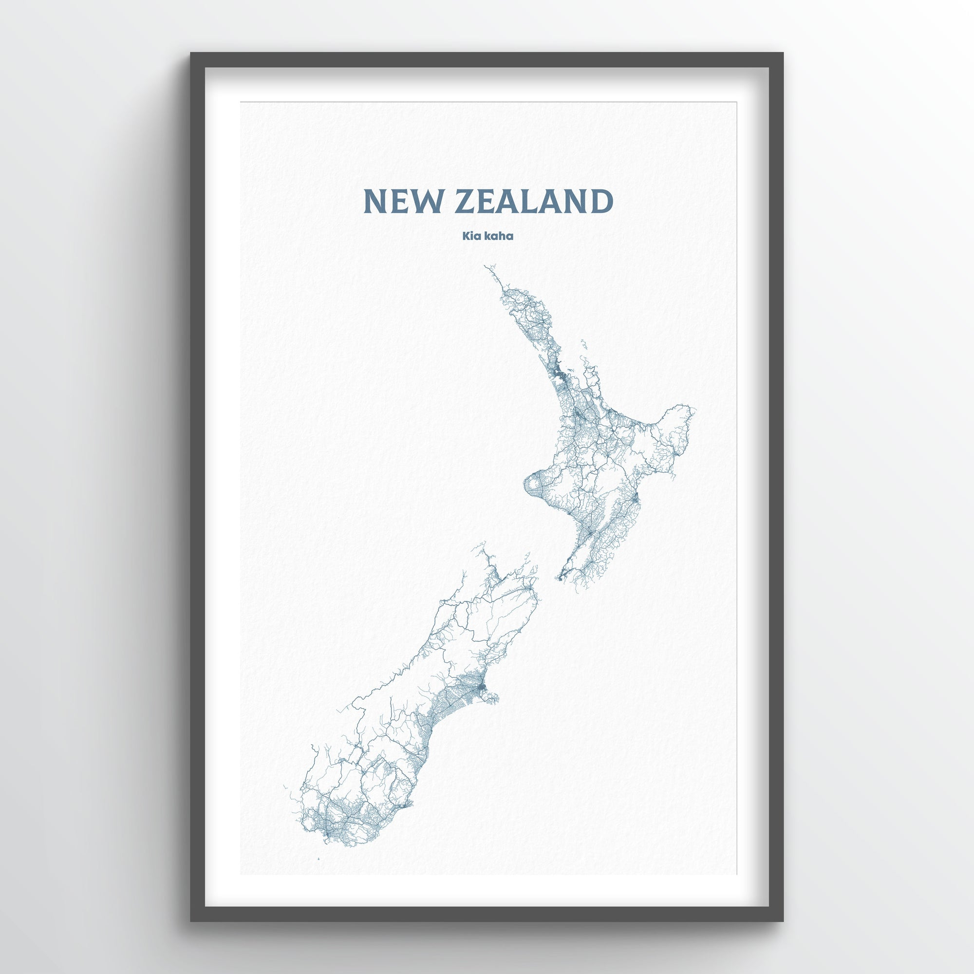 New Zealand - All Roads Art Print