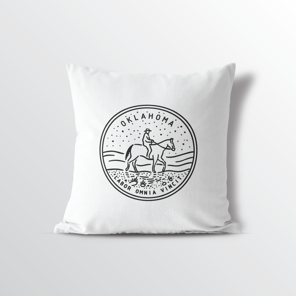 Oklahoma State Crest Throw Pillow