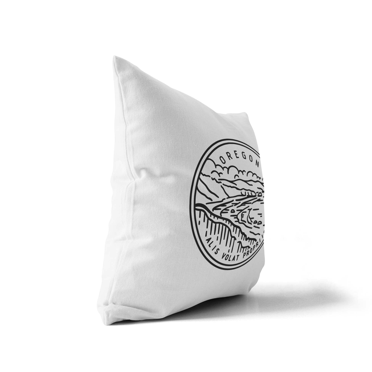 Oregon State Crest Throw Pillow