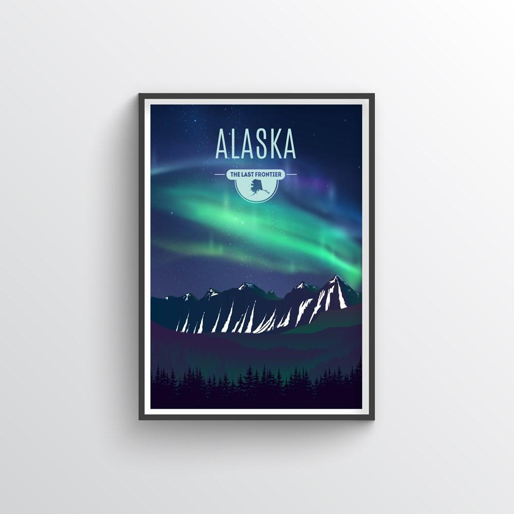 Alaska State Print - Point Two Design