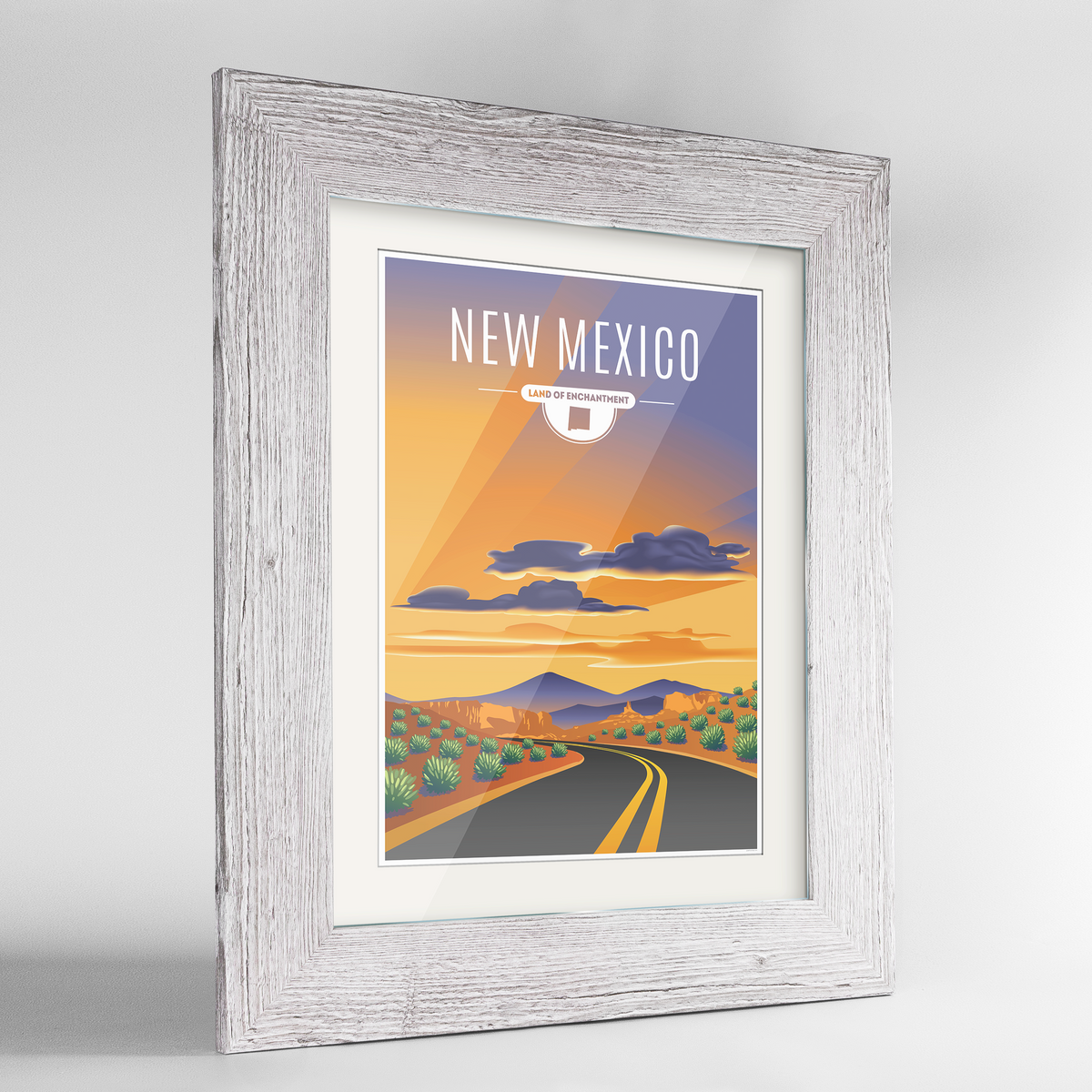 New Mexico State Frame Print