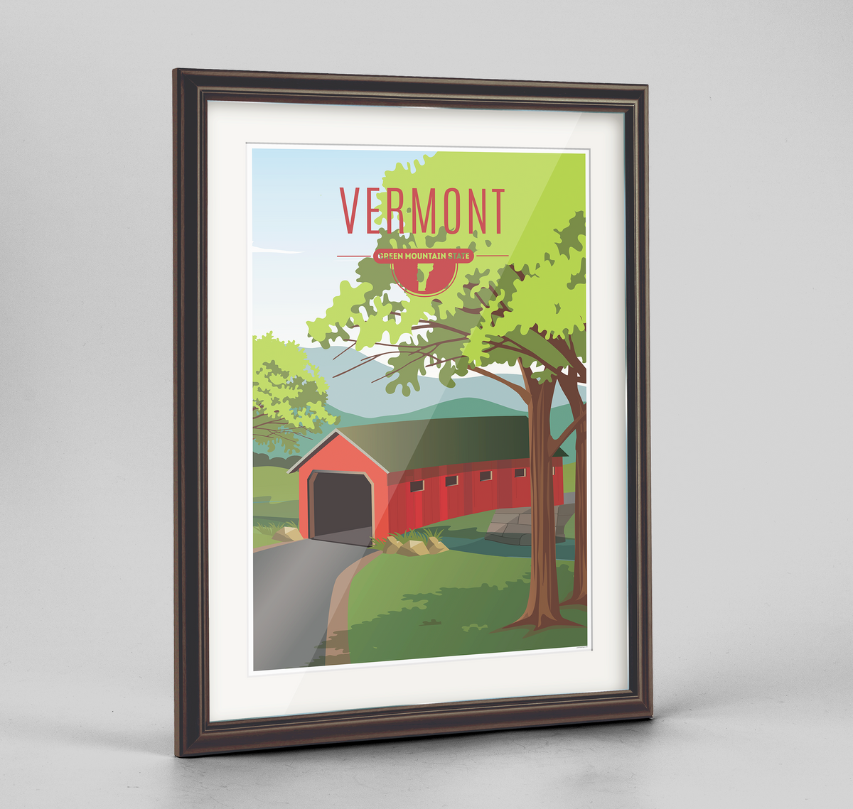 Vermont State Frame Print