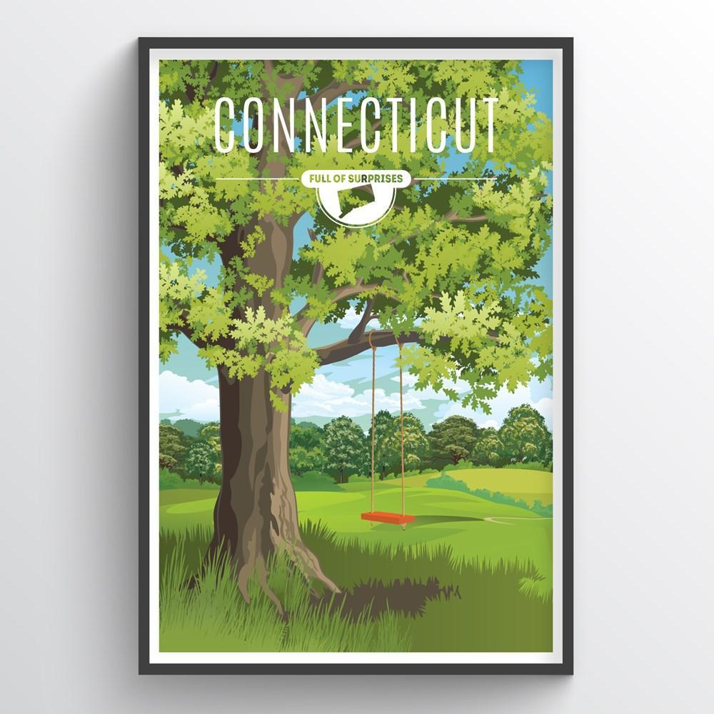 Connecticut State Print - Point Two Design