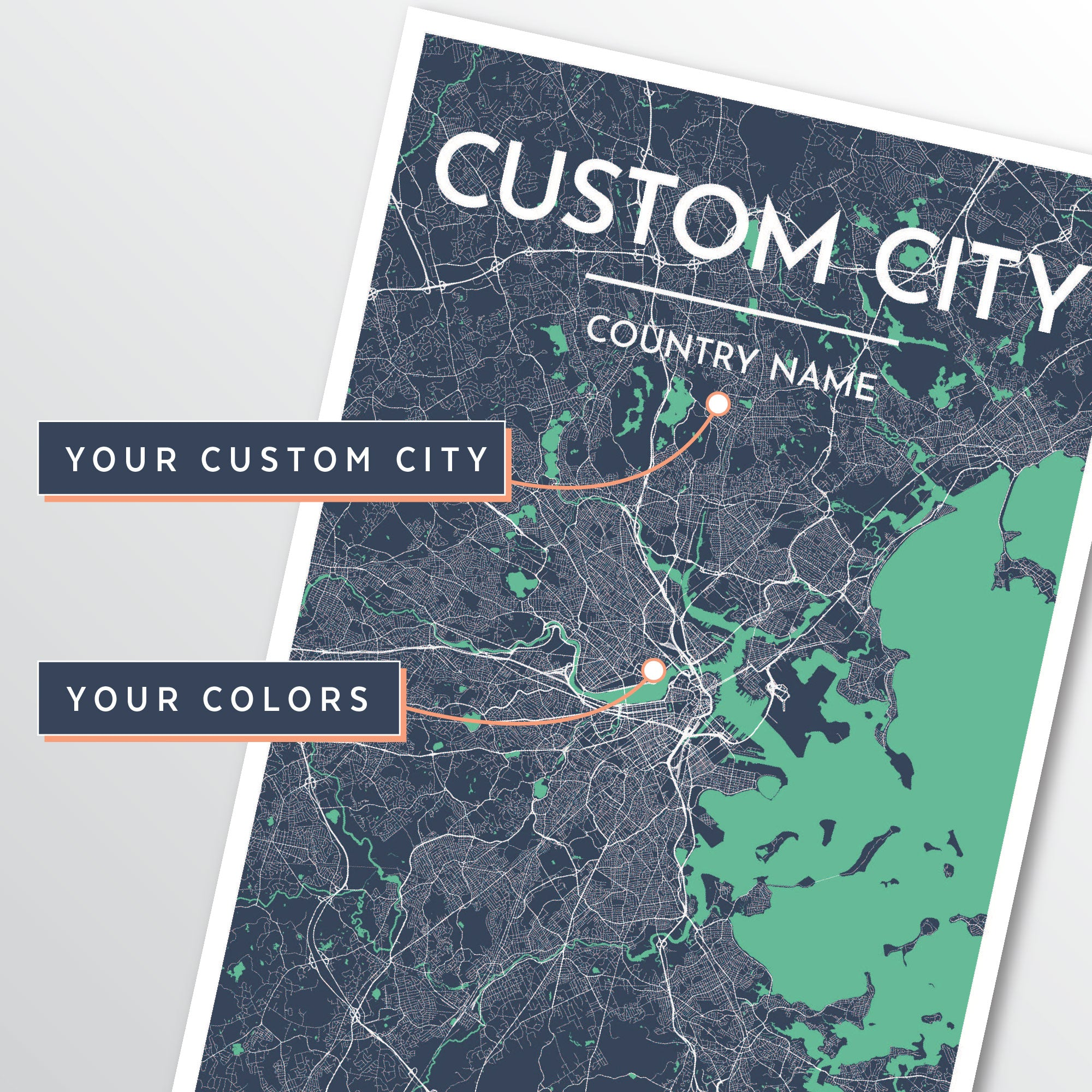 Custom City Map Designer