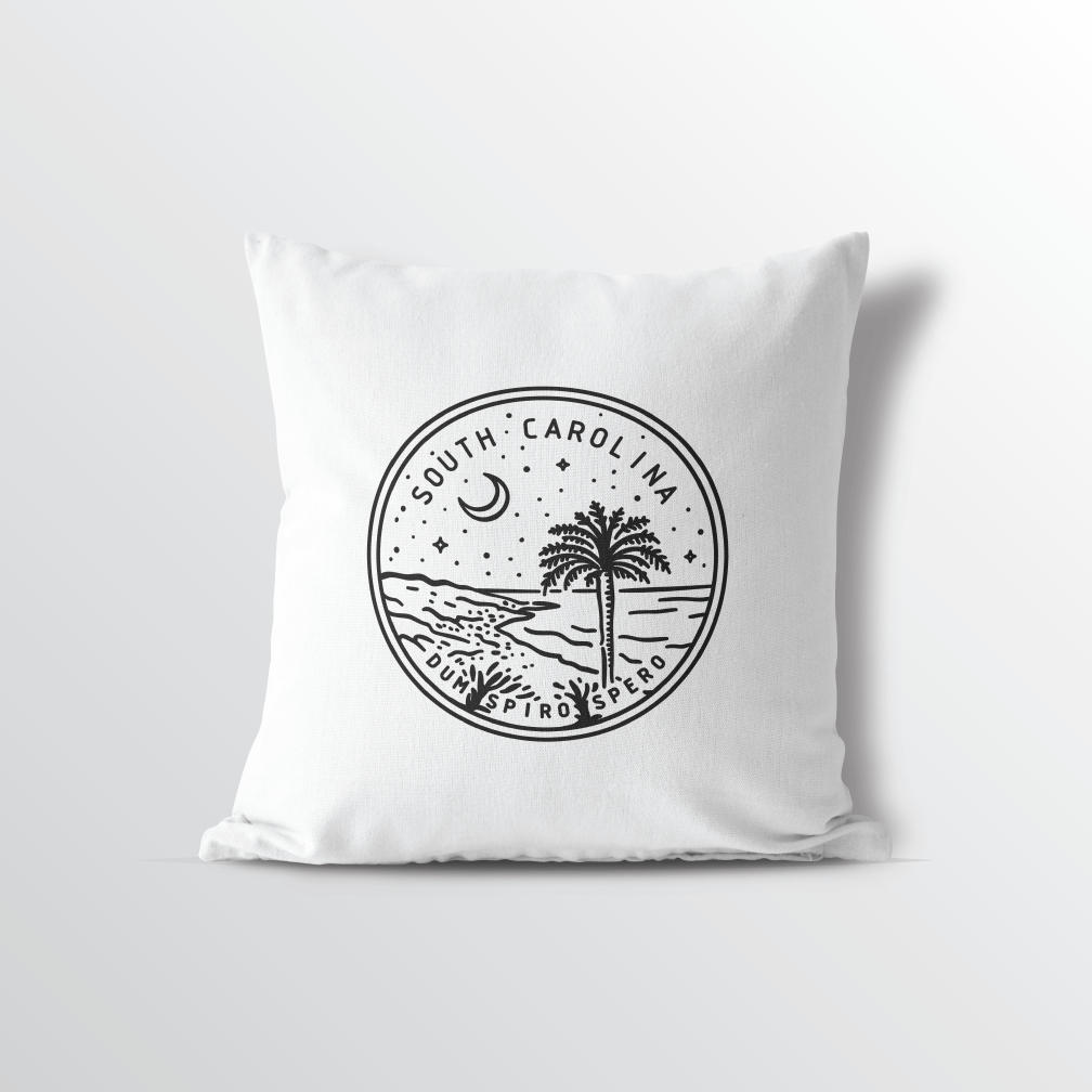 South Carolina State Crest Throw Pillow