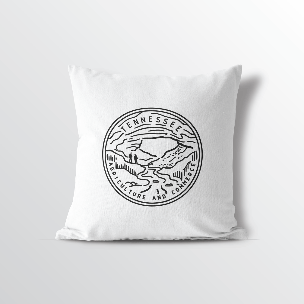 Tennessee State Throw Pillow Represent Your State Pride Point Two Design