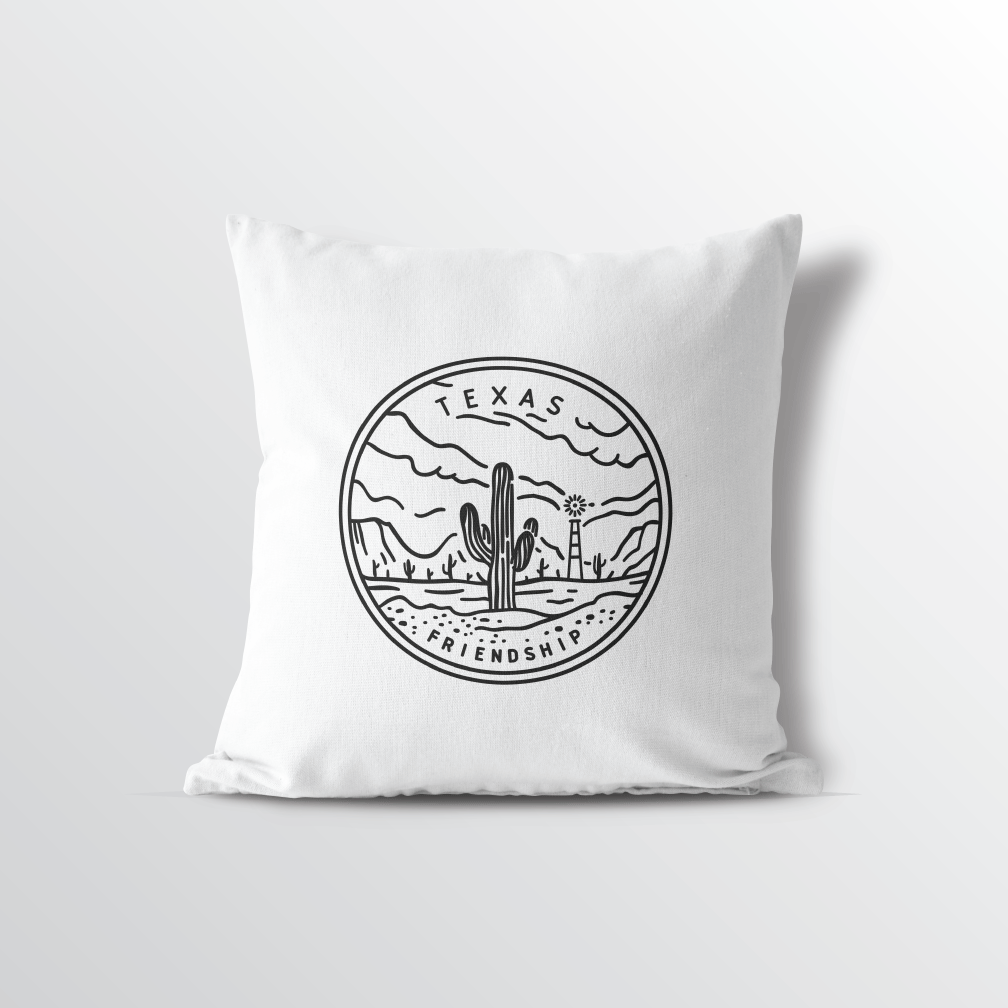 Texas State Crest Throw Pillow