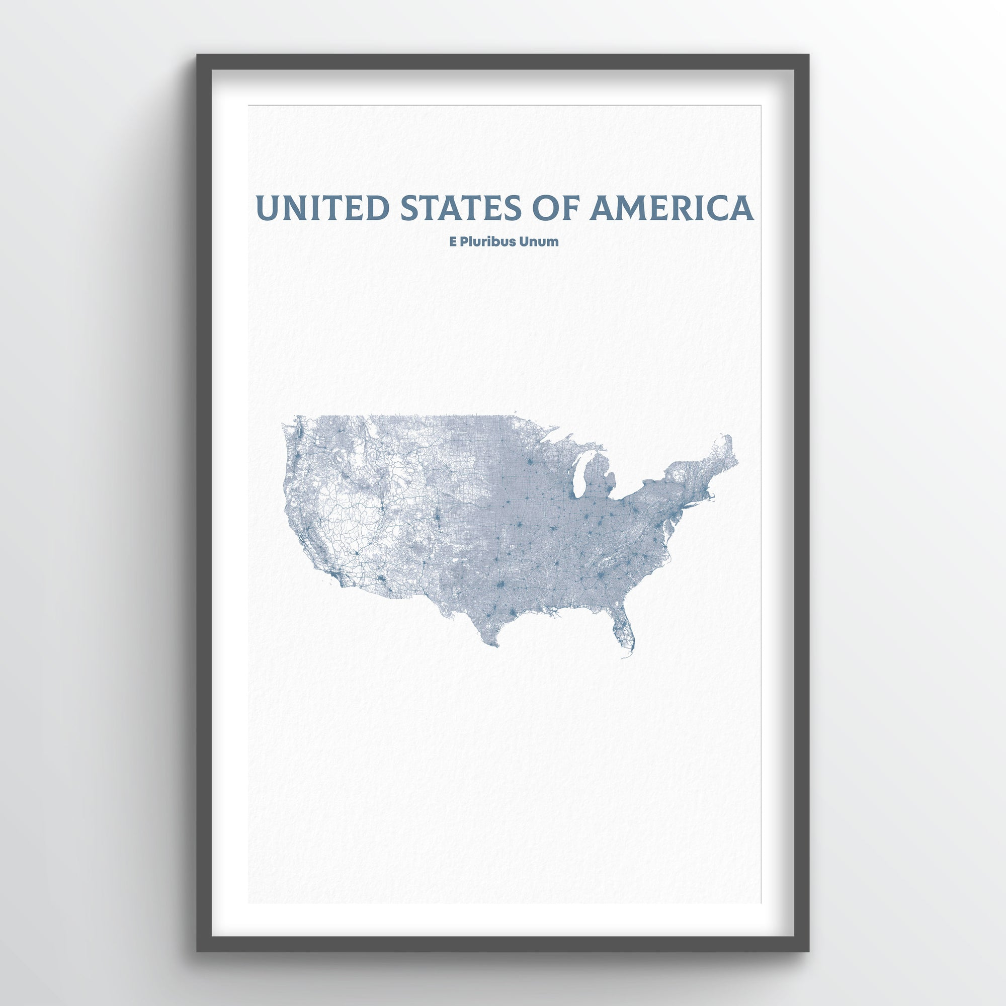 United States of America - All Roads Art Print