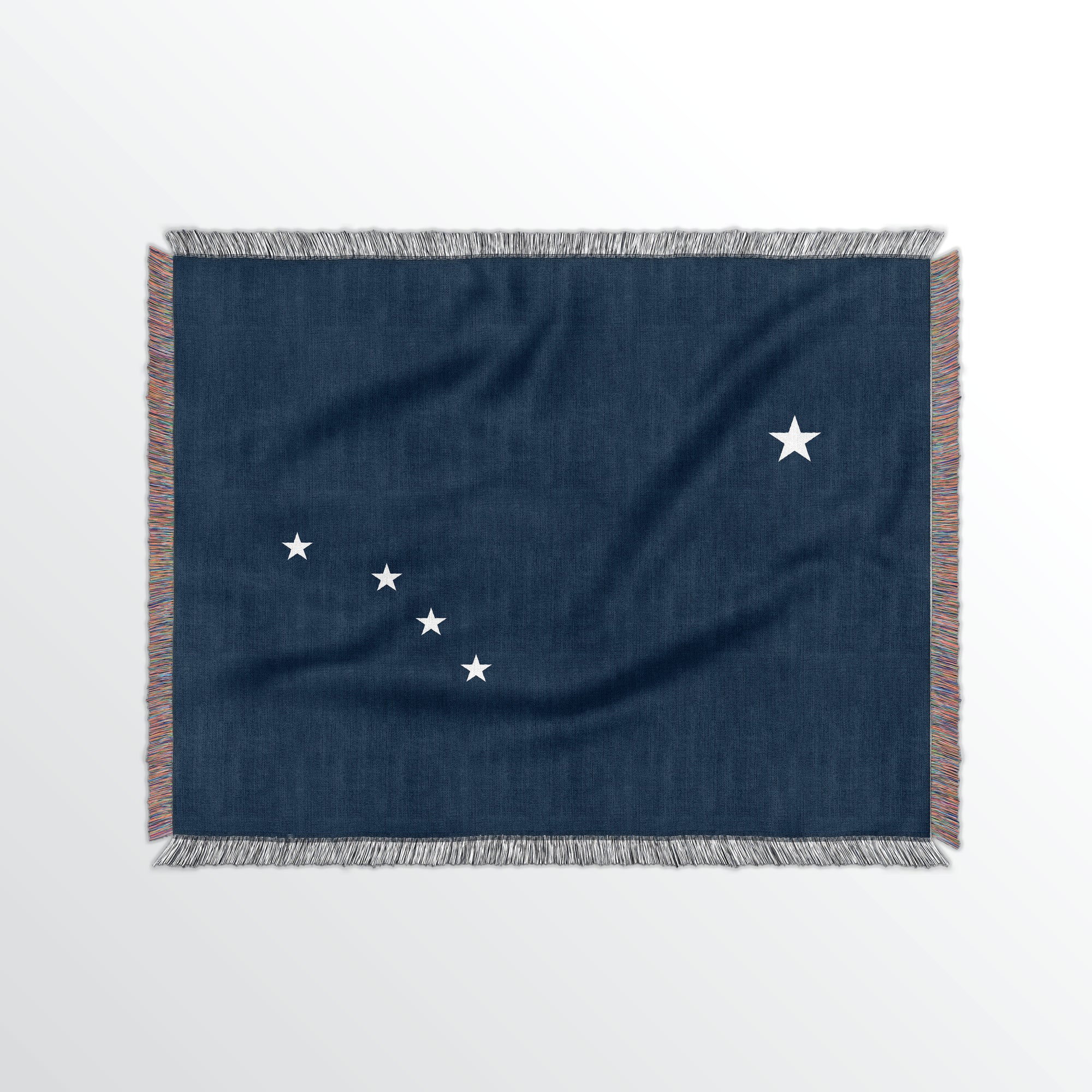 Alaska State Woven Cotton Blanket - Point Two Design