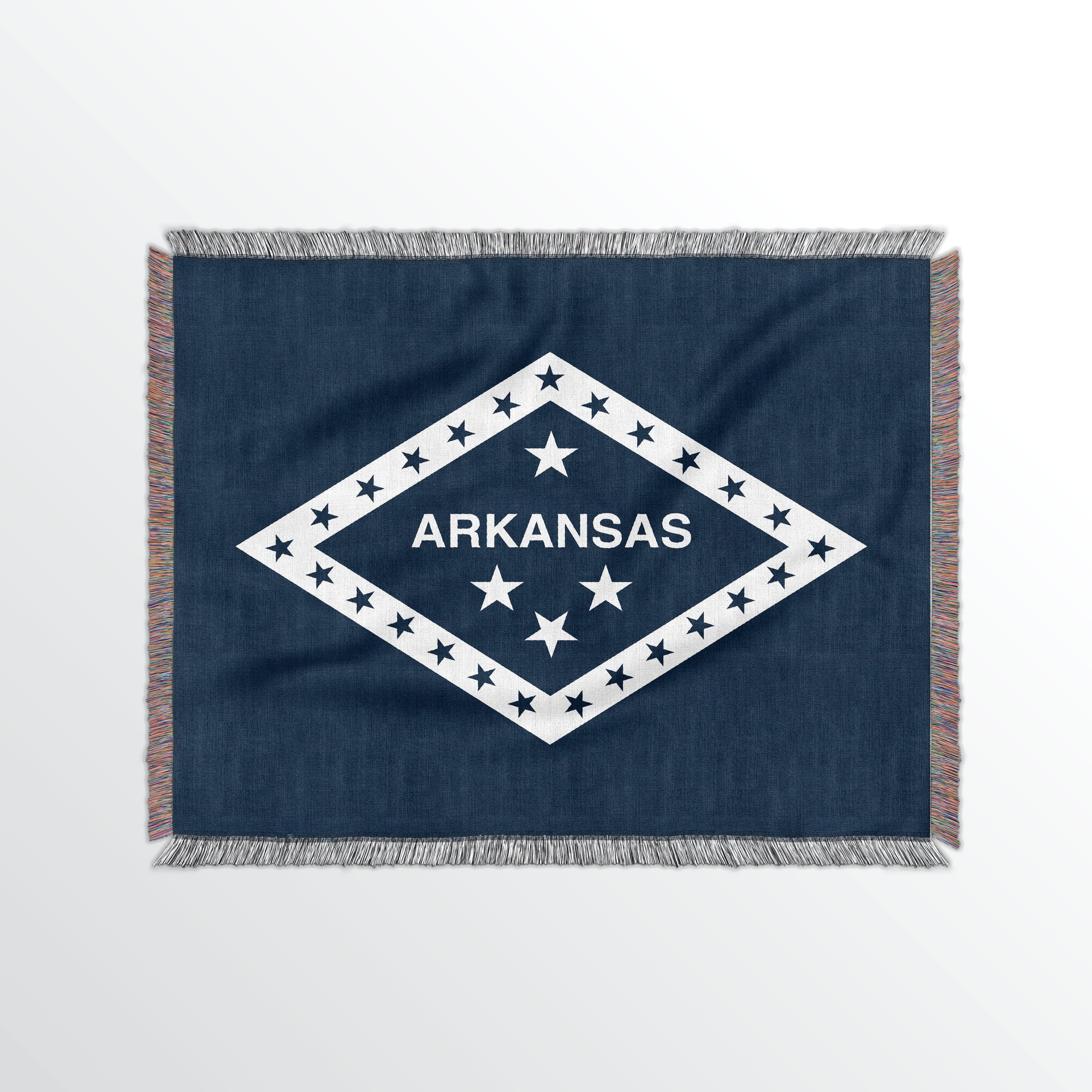 Arkansas State Woven Cotton Blanket - Point Two Design