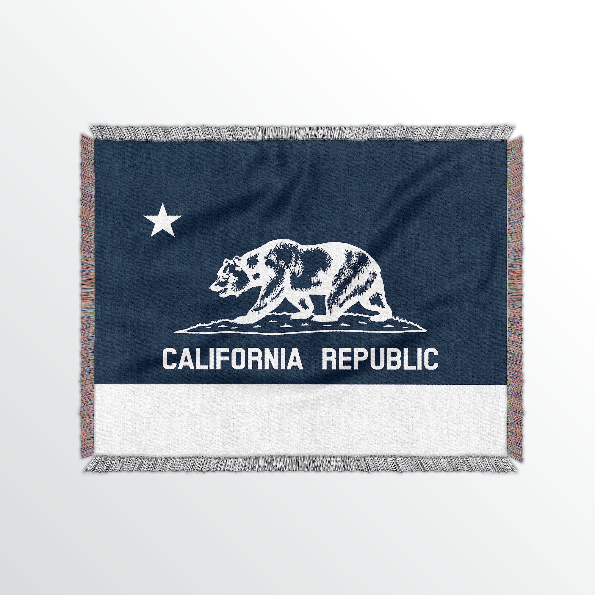 California State Woven Cotton Blanet - Point Two Design