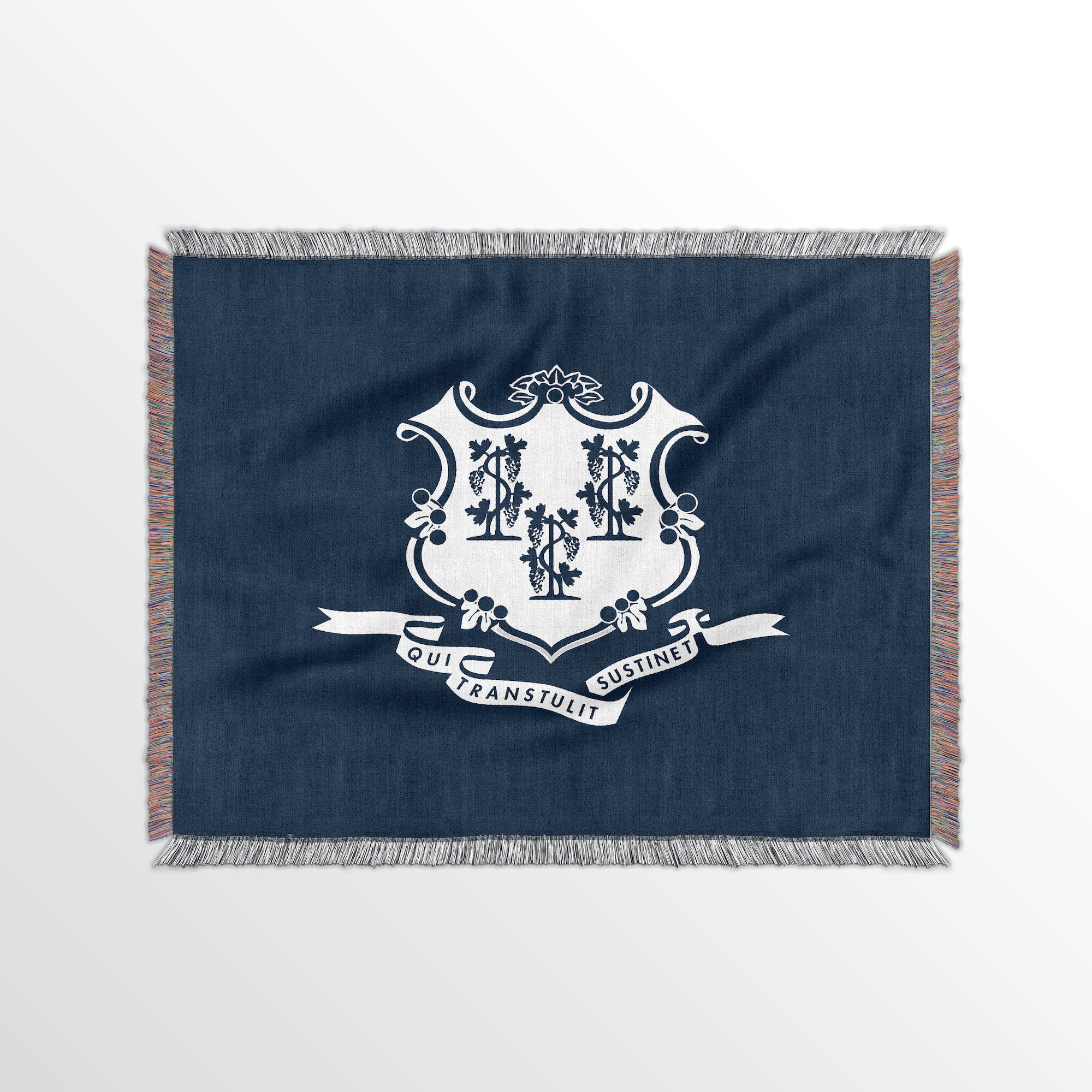 Connecticut State Woven Cotton Blanket - Point Two Design
