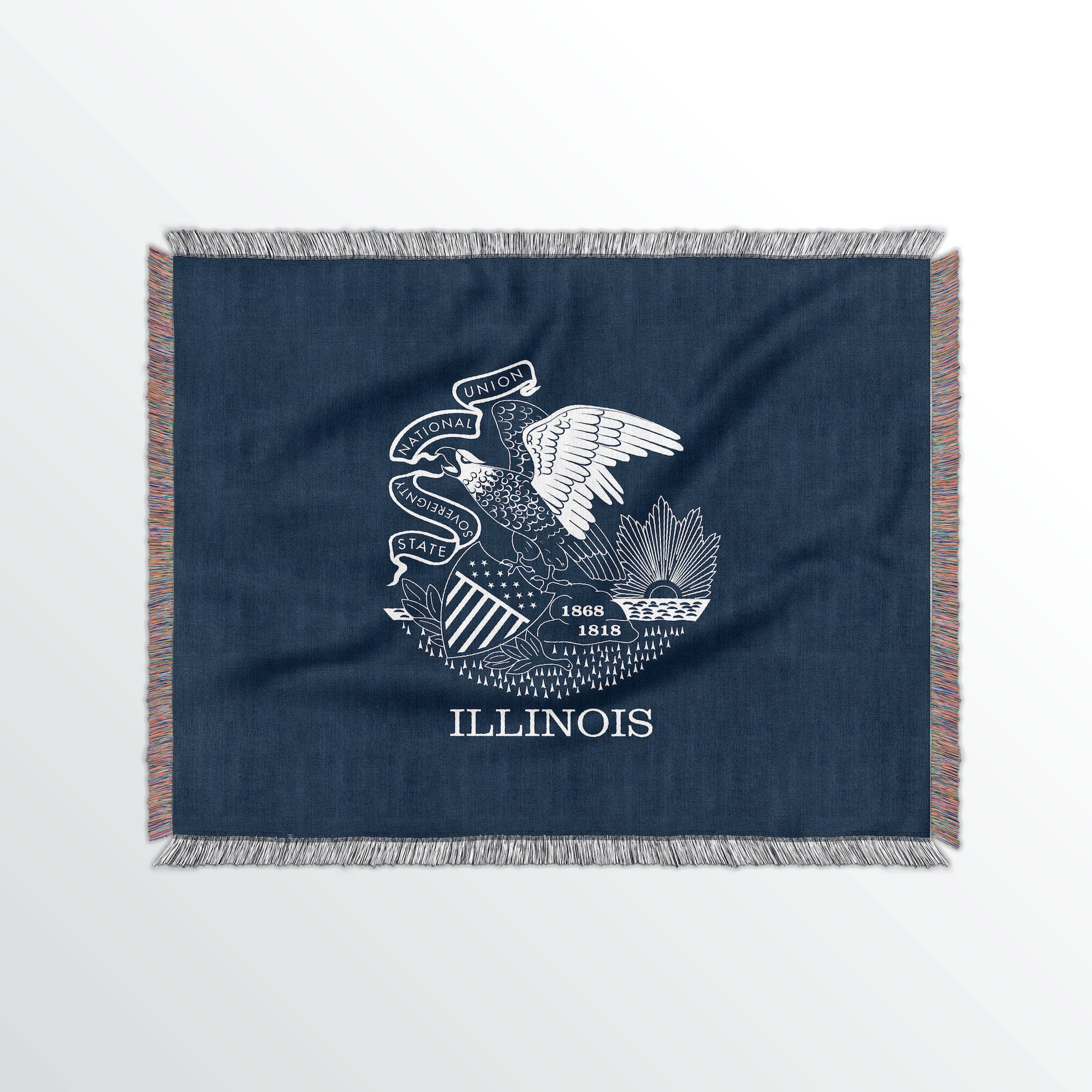 Illinois State Woven Cotton Blanet - Point Two Design