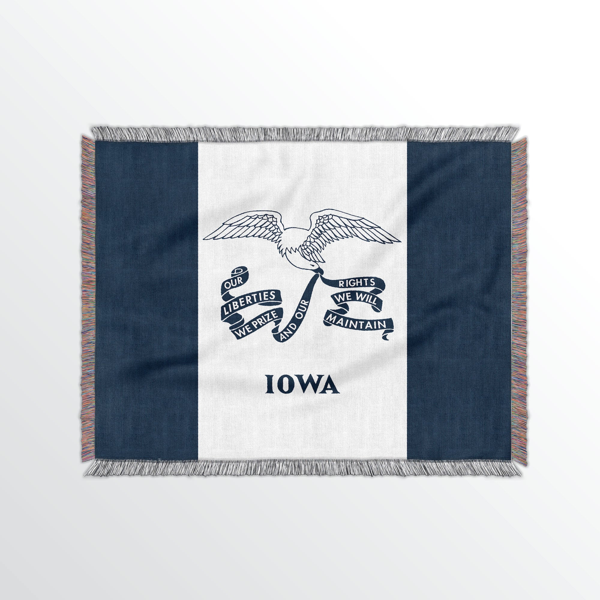 Iowa State Woven Cotton Blanet - Point Two Design