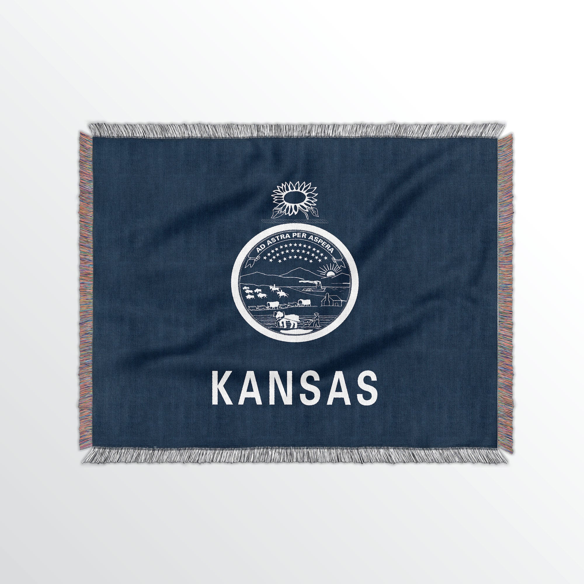 Kansas State Woven Cotton Blanet - Point Two Design