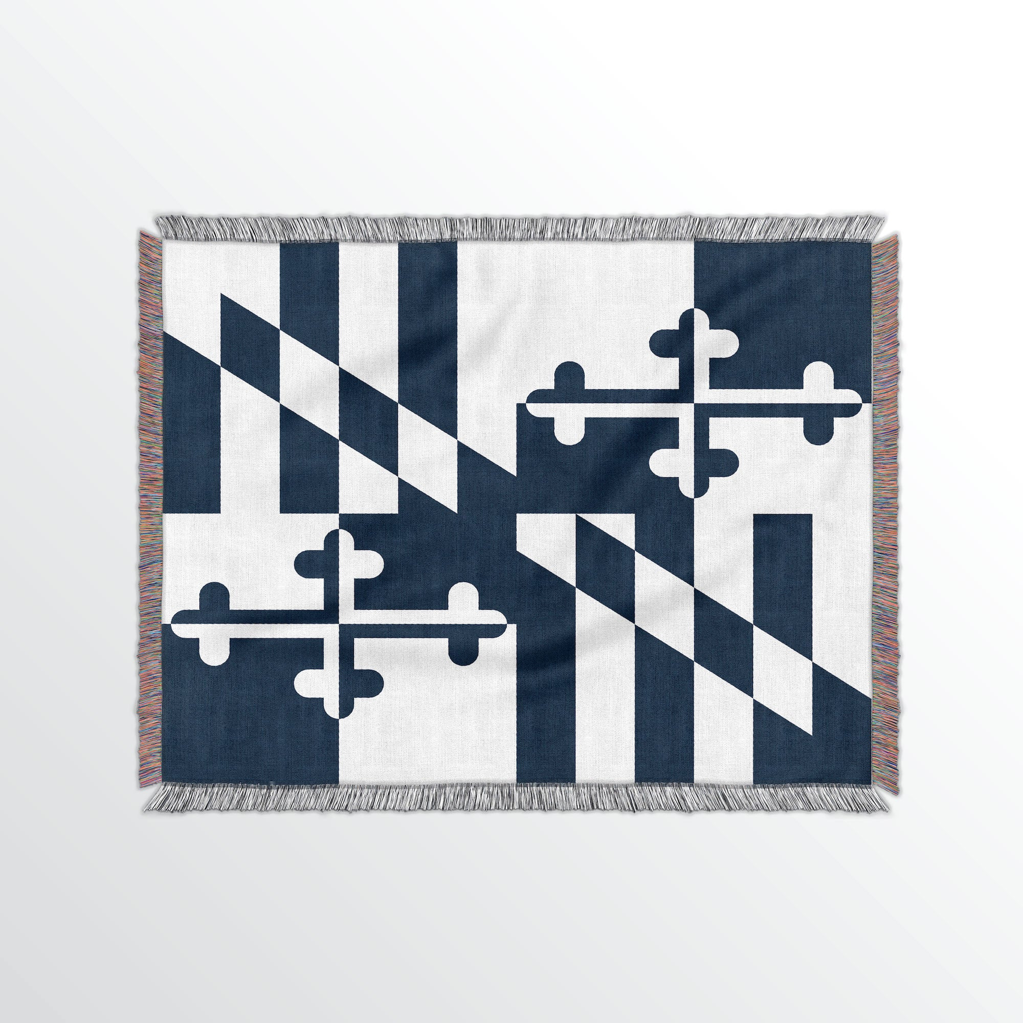 Maryland State Woven Cotton Blanet - Point Two Design
