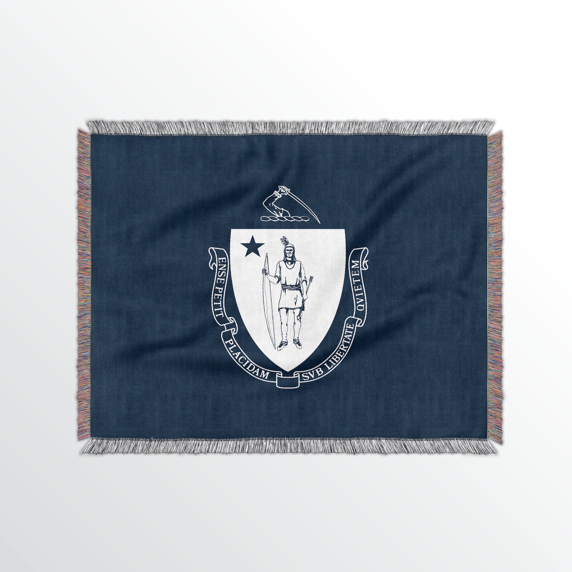 Massachusetts State Woven Cotton Blanet - Point Two Design