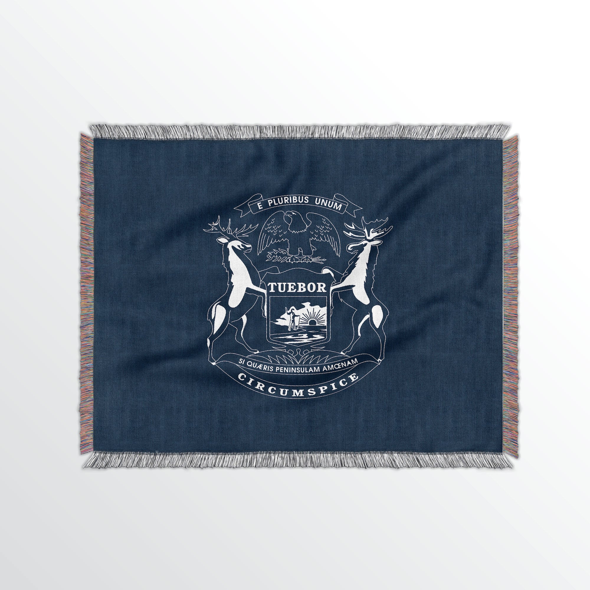 Michigan State Woven Cotton Blanet - Point Two Design